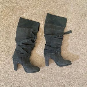 Zara gray suede boot. Size 7